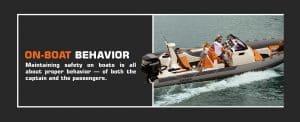 Safe On-Boat Behavior