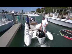 BRIG Navigator 730 tested with an Oxe Diesel outboard 150 hp with a wireless start.